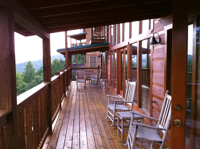 Gatlinburg Cabin Deck
